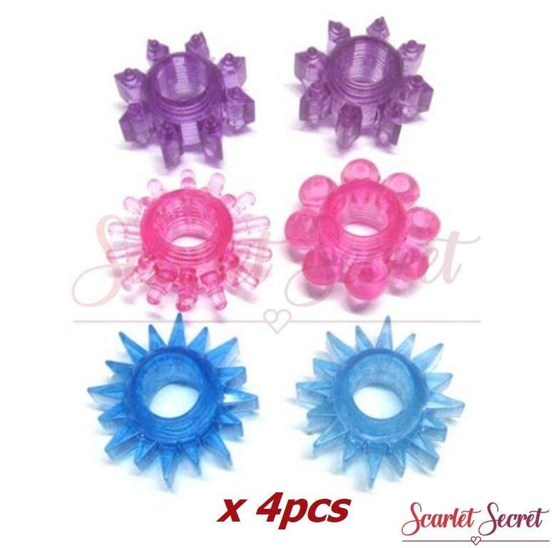 (4pcs)  Men Soft Silicone Erection Ejaculation Delay Ring Sex Toy