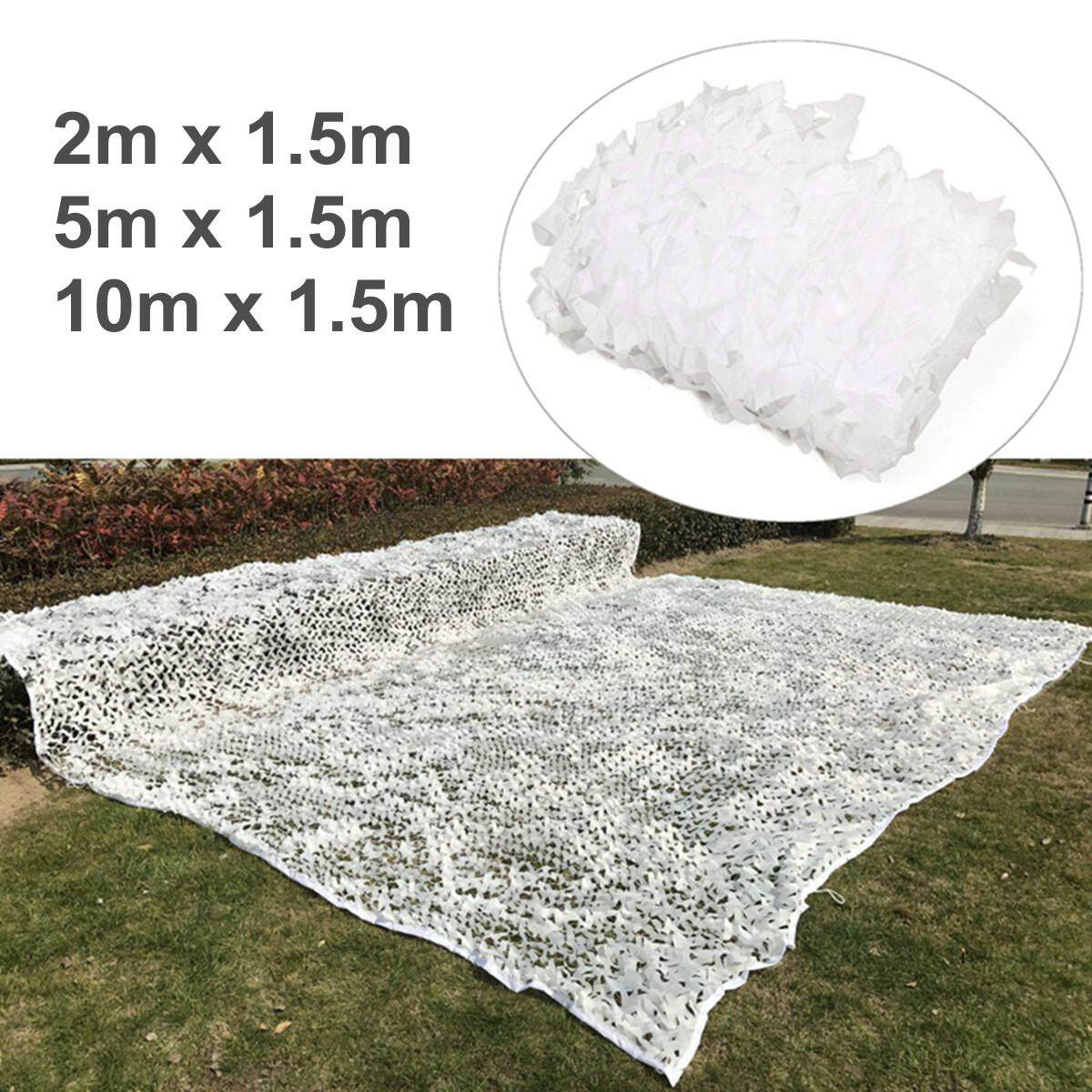 3 Size White Snow Camo Net Camouflage Netting Hunting/Shooting Hide Tent Cover# 5m x 1.5m