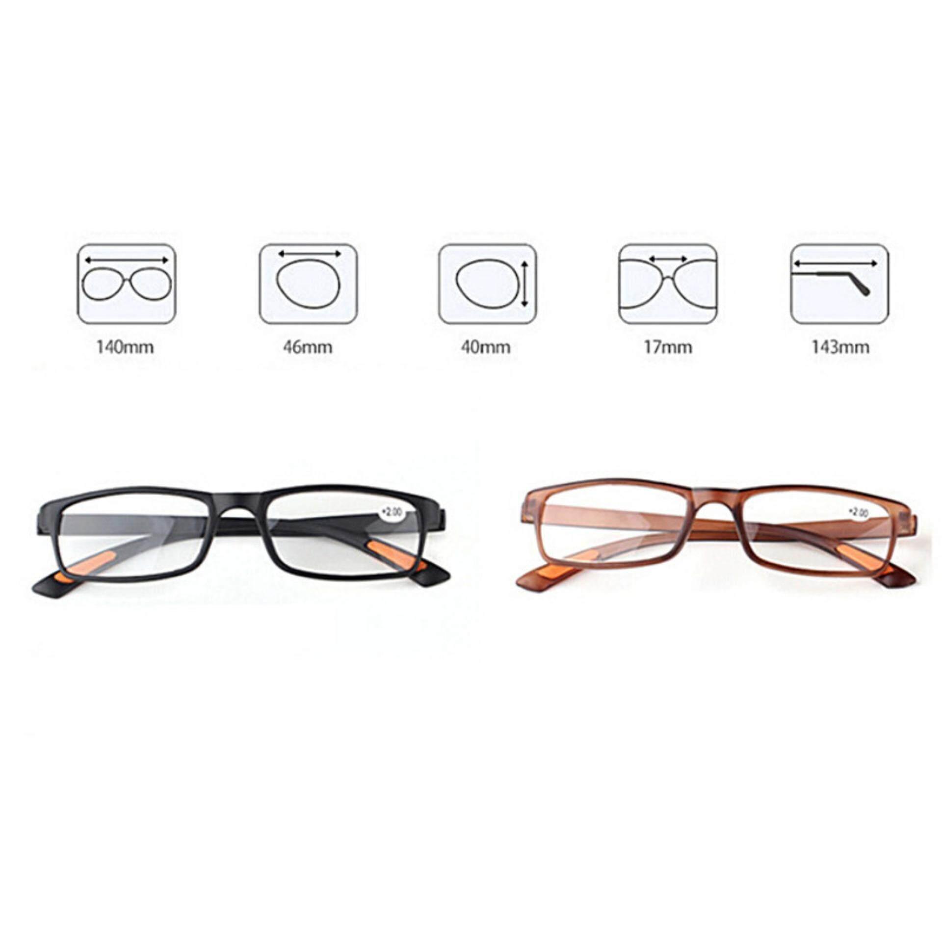 Detail Gambar Retro Bingkai Persegi Tidak Ada Garis Kacamata Progresif Lensa Kacamata Baca Uniseks Coklat Gelap