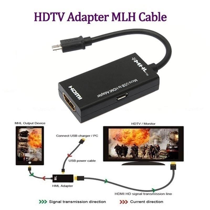 Dewin Mikro Usb Ke Hdmi Tv Out Hdtv Kabel Adaptor Mhl Untuk Ponsel By Dewin.