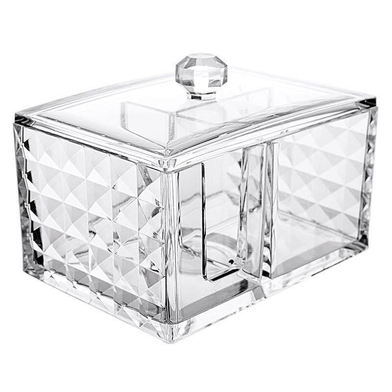 MINISO Acrylic three-grid multi-purpose storage box (transparent)