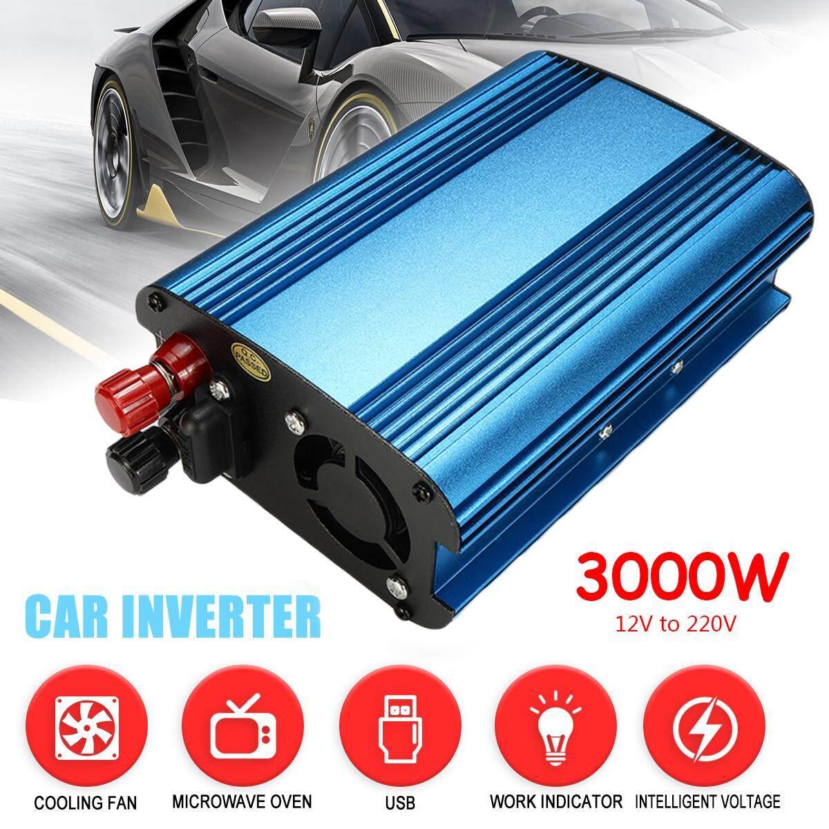 Solar Pengalih Daya 3000 W LED 12 V DC untuk 220 V AC Gelombang Sinus Murni Converter-Intl