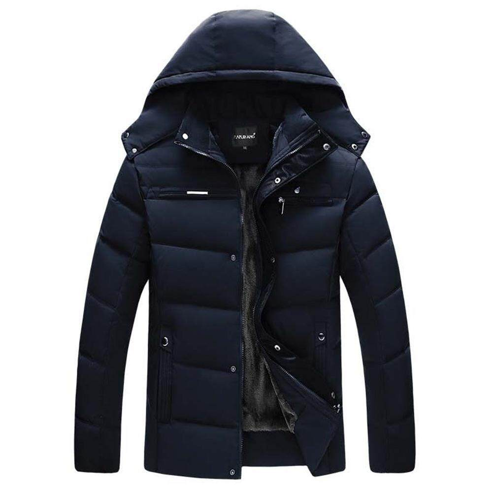 91795924ae6e Coromose Men Cotton Padded Jacket Parka Hooded Outwear with Velvet Down Coat  for Winter