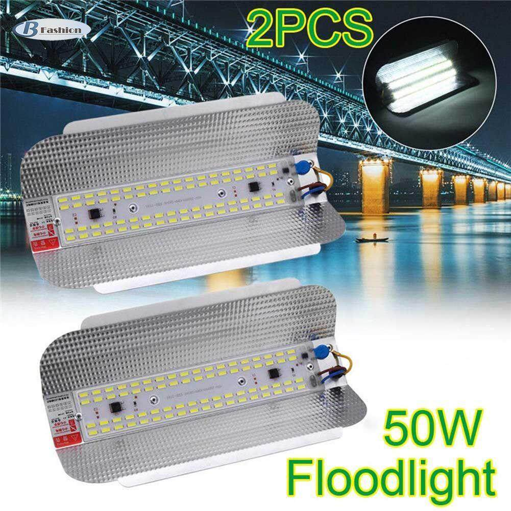 B-F 2Pcs 50W LED Flood Light High Bay Waterproof Floodlight Iodine-Tungsten Outdoor Lamp 160-240V Singapore