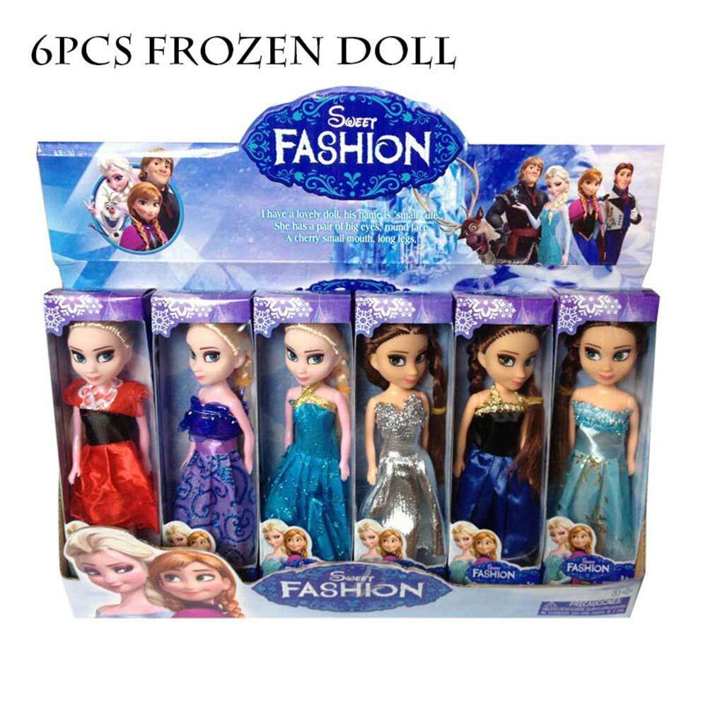 Ryt Putri Koleksi Boneka Anna dan Elsa Gaun Klasik Boneka-Frozen