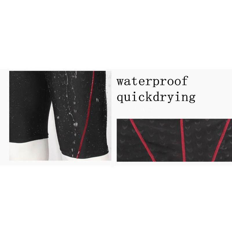 ... Celana Renang Pria Memandikan Celana Pendek Menyelam Setelan Berselancar Baju Renang Celana Boxer Renang Hitam-