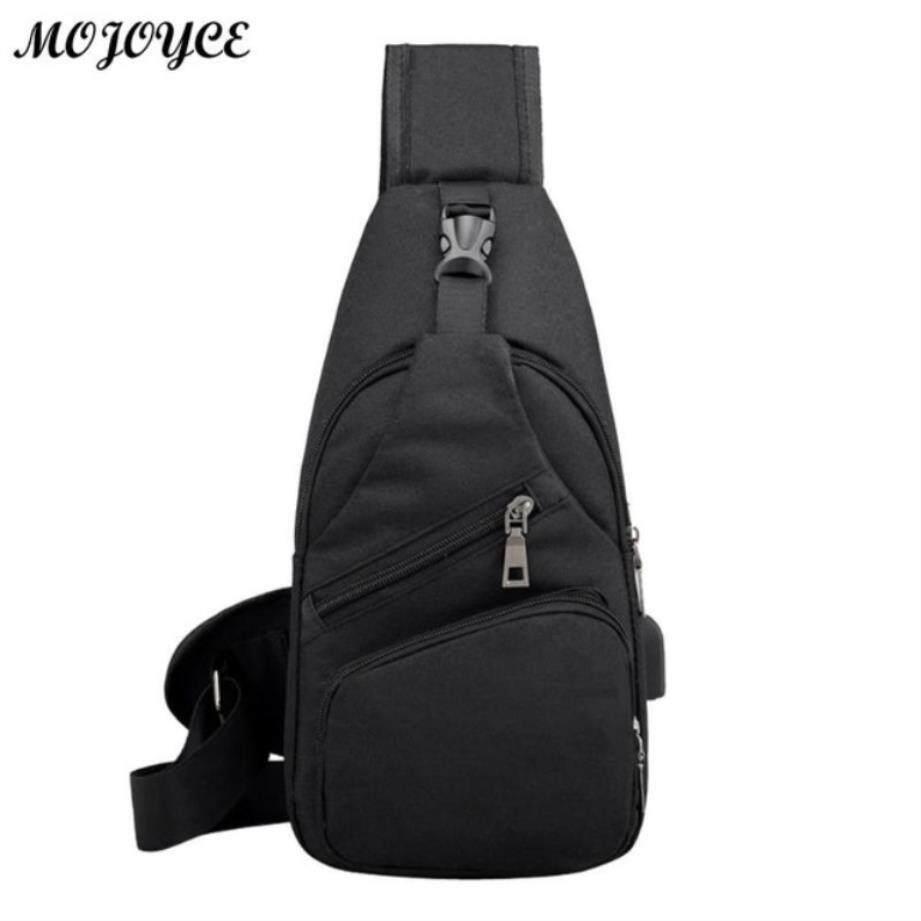 55379993aa8 Men Casual Chest Pack Canvas Usb Charging Crossbody Bags For Men Shoulder  Handbag Fashion Travel Cross