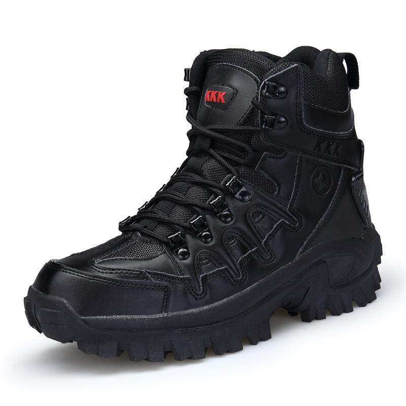 Sale Summer Quality Brand Sneakers Leather Hiking Shoes Men Outdoor Sport Hunting Trekking Fishing Army Military Tactical Boots High Top Desert Magnum Trekking Sneakers Intl Oem On China