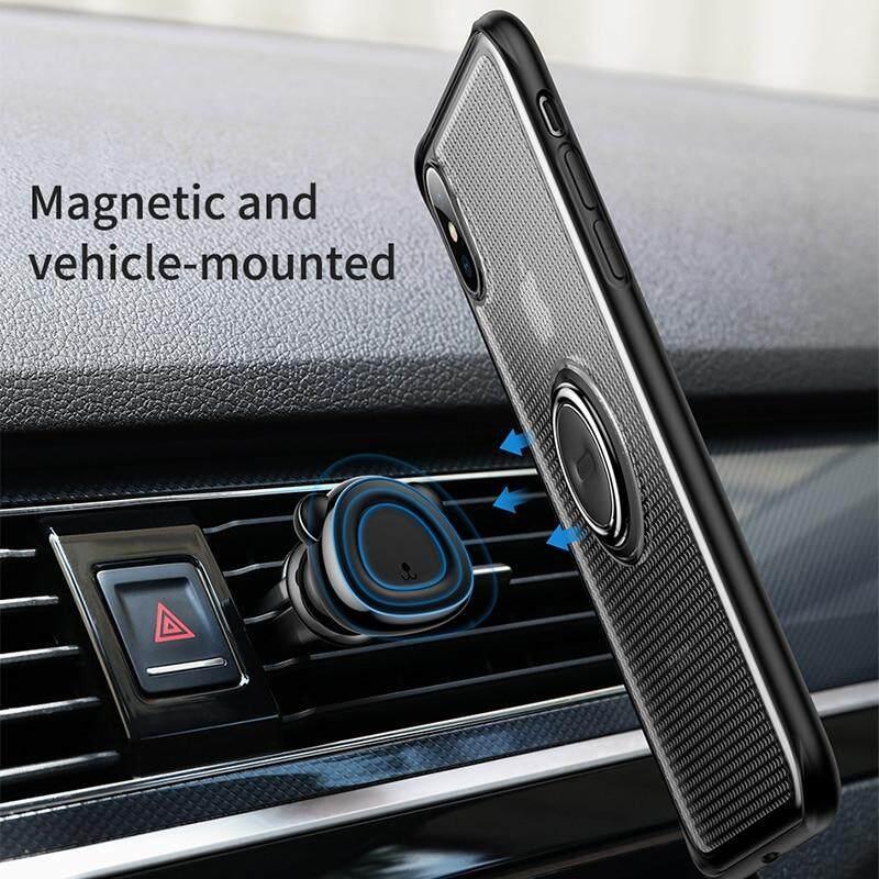 BASEUS Dudukan Cincin Case untuk iPhone X Max XR Kickstand Penutup Pelindung Lembut TPU Jari Dudukan Cincin Case - 4
