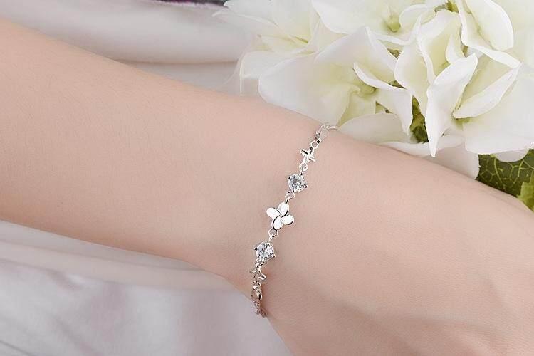 【Coklat】Departemen Manis Asli Pan Jiafeng Borgol Lady Millet Pearl Natural Crystal Beaded Gelang Vintage Leaf Bracelet
