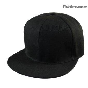 Harga Penawaran Unisex Pria Hip-Hop Dapat Disesuaikan Topi Snapback Topi  Baseball Hitam-Intl 136fe3c140