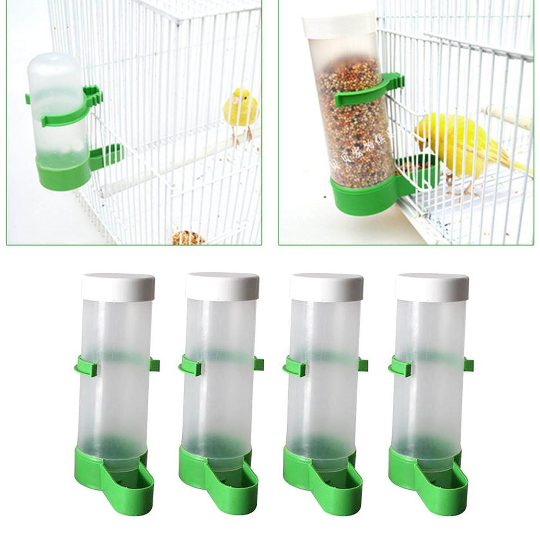4 Pcs Burung Pengumpan Air Dispenser Botol Cangkir Minum Mangkuk Untuk Hewan Peliharaan Kesturi Kekasih Sangkar Burung Parkit 12 Cm-Intl By Duha.