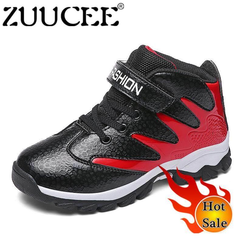 Zuucee Fashion Anak Laki-laki Tinggi Atas Sepatu Basket Sepatu Olahraga  Luar Ruangan Berjalan Shoes a43c196a47