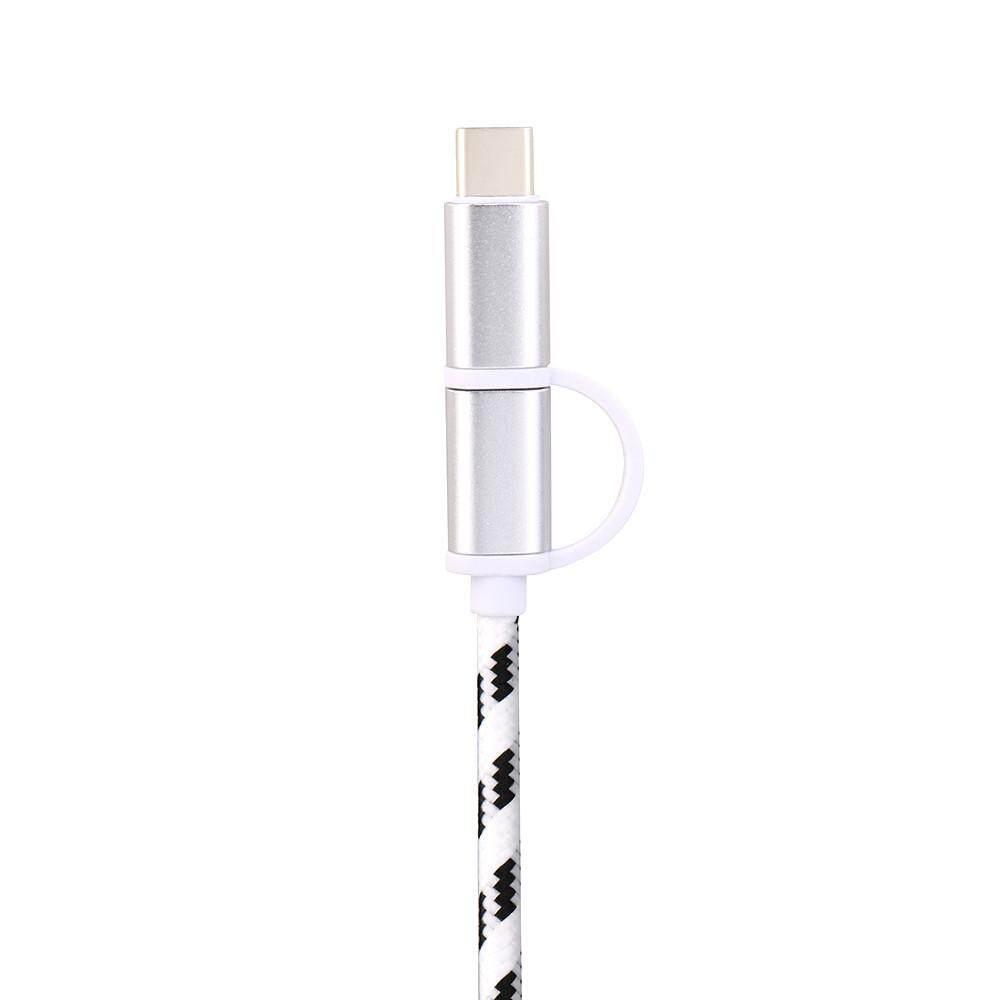 V8 Mikro USB Tipe C Combo Pria Data Kabel Pengisian untuk ZTE ZMAX Pro Z981-Intl