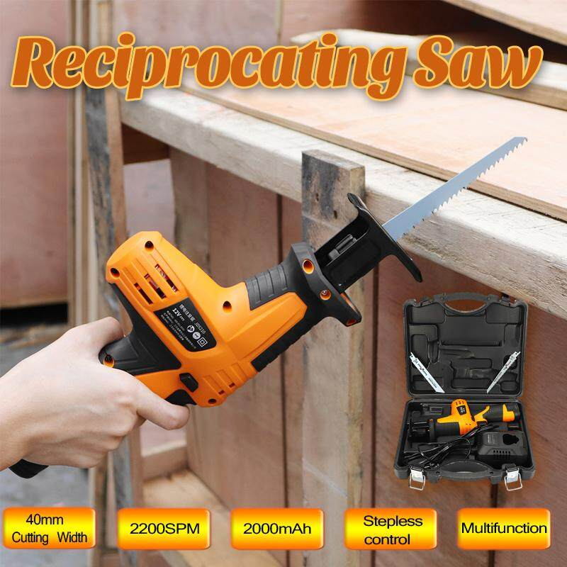 Reciprocating Saw 12V 0-2200SPM Stepless Control 2200mAh Rechargeable Battery