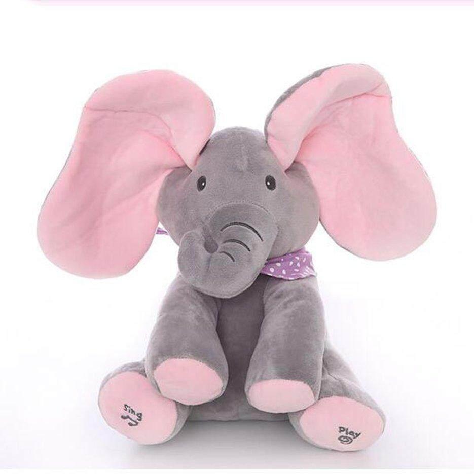 Hot Penjual Mengintip-A-Boo Gajah Plush Ciluk Ba Abu-Abu Plus Versi Bahasa Inggris Gajah By Neveriss.