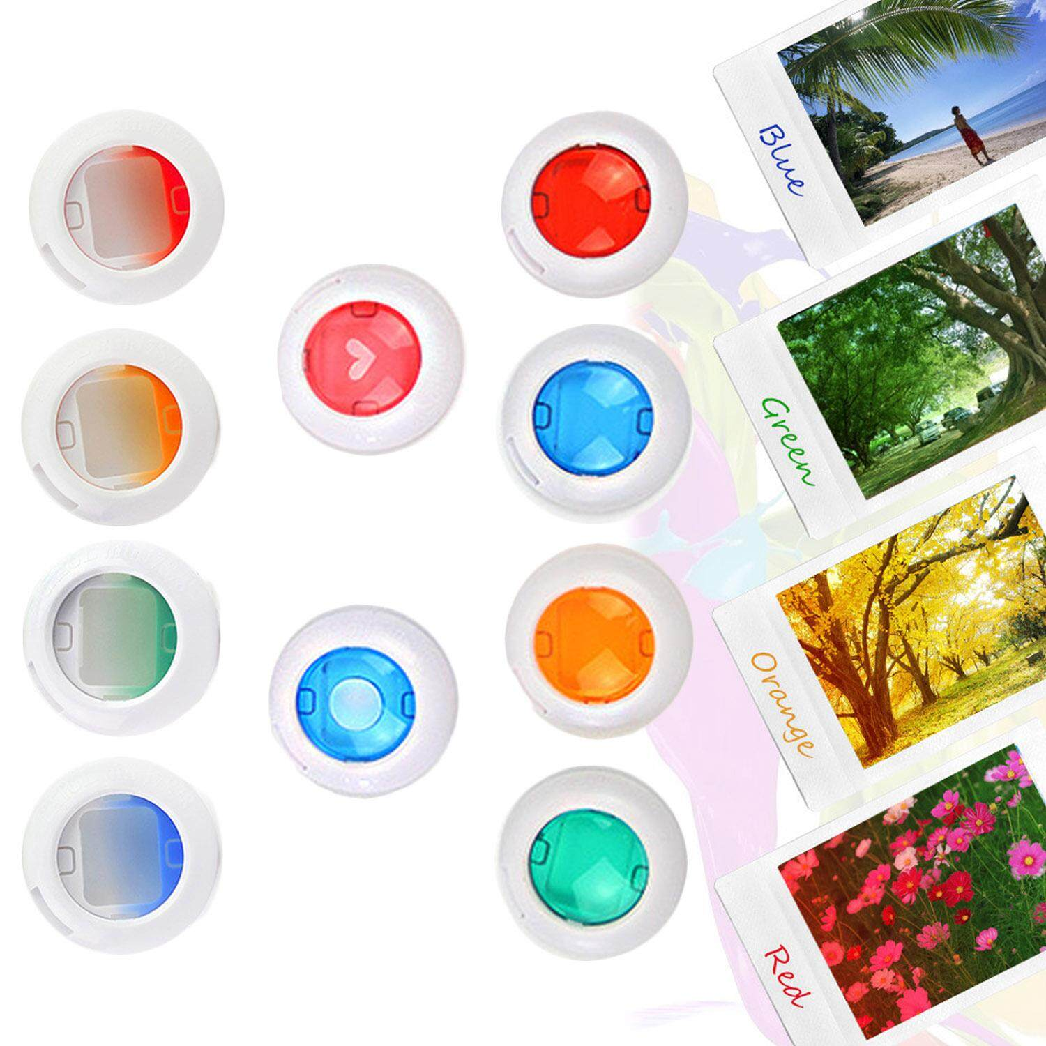 10 Pcs Assorted Colors Close Up Color Lens Filter Set For Fujifilm Instax Mini 8 8+ 9 7s Kt Instant Film Camera - Intl By Stoneky.