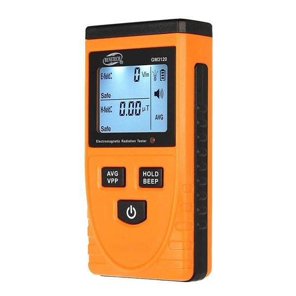 Electromagnetic Radiation Detector Dosimeter Tester EMF Meter Counter with LCD GM3120 - Yellow + Black