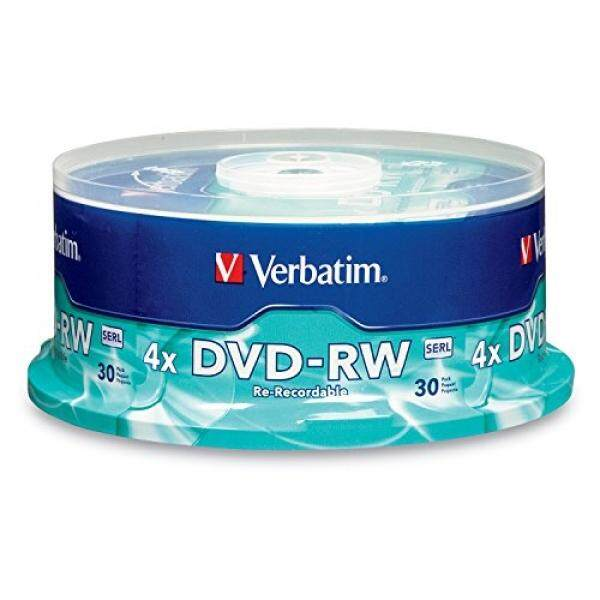 Blank Media Verbatim DVD-RW 4.7GB 4X with Branded Surface 30-Disc Spindle 95179 - intl