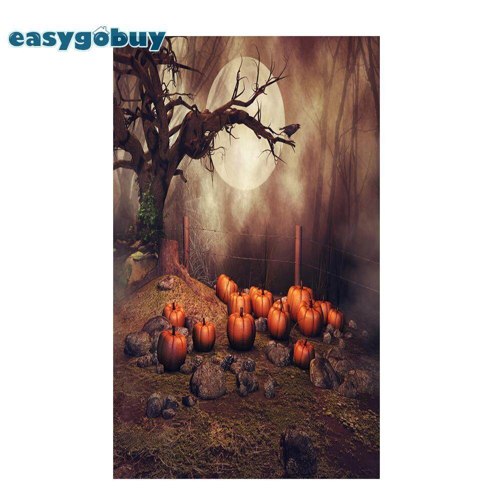 Durable Forest Pumpkin Vintage Photo Studio Photography Backdrop Background Art fabric for Vedio Shooting