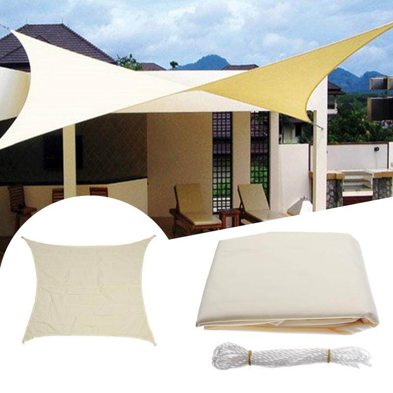 8ft Pelindung Matahari Square Kanopi Tahan Air Tenda Teras Taman Pelindung Uv Outdoor-Intl By
