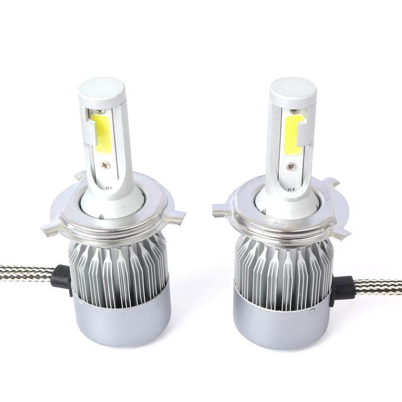 New 2pcs C6 LED Car Headlight Kit COB H4 36W 7600LM White Light Bulbs