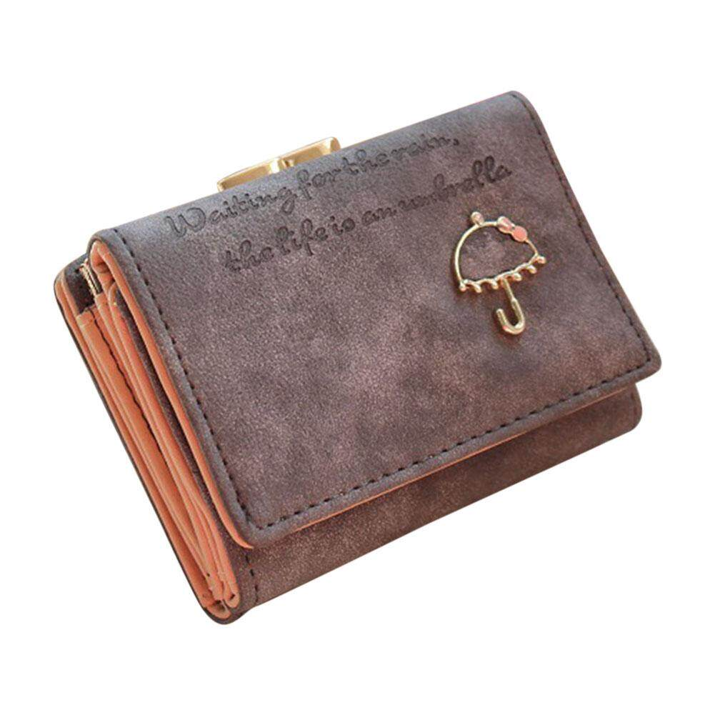 Amart Fashion Women Small Wallets Purse Buckle Mini PU Soft Durable For Coin Money Cards -