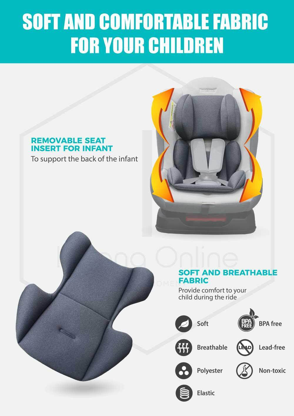 Sweet Heart Paris CS226 Group 01 Baby Car Seat Assurance JPJ Approved MIROS and ECE R44/04 Certified (Royal Space Blue)
