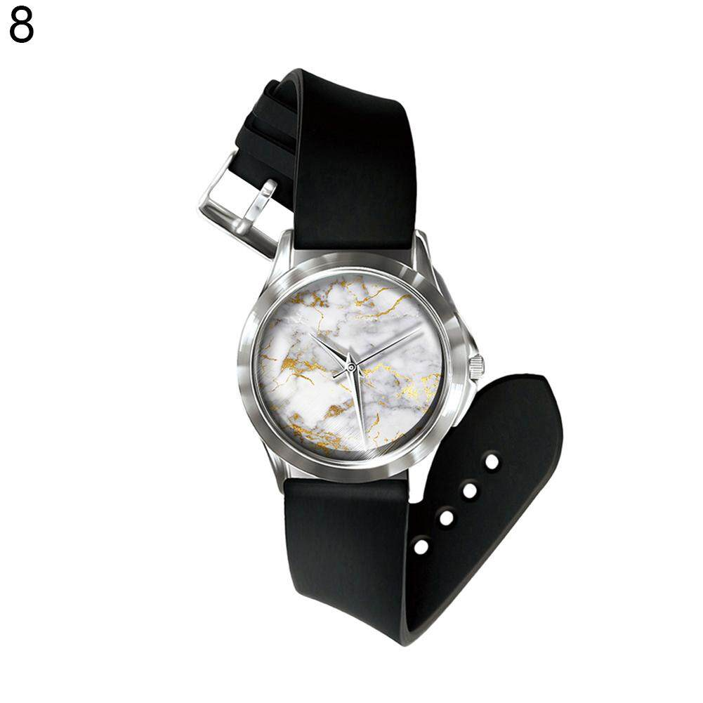 Sanwood® Men Women Geometric Crack Fashion Round Dial Analog Quartz Wrist Watch Gift (8#) Malaysia