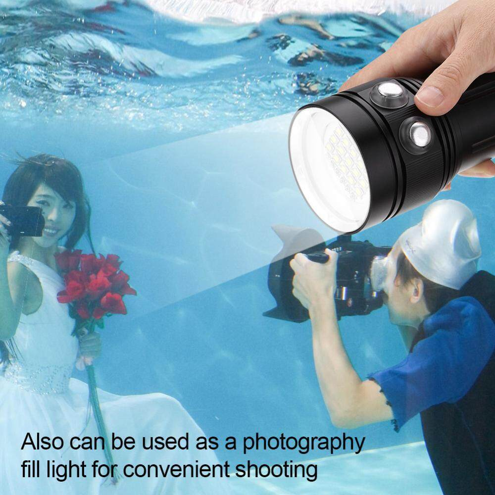 Review 15 X L2 Bright Led Diving Flashlight Aluminum Alloy Underwater Video Photography Torch Intl China