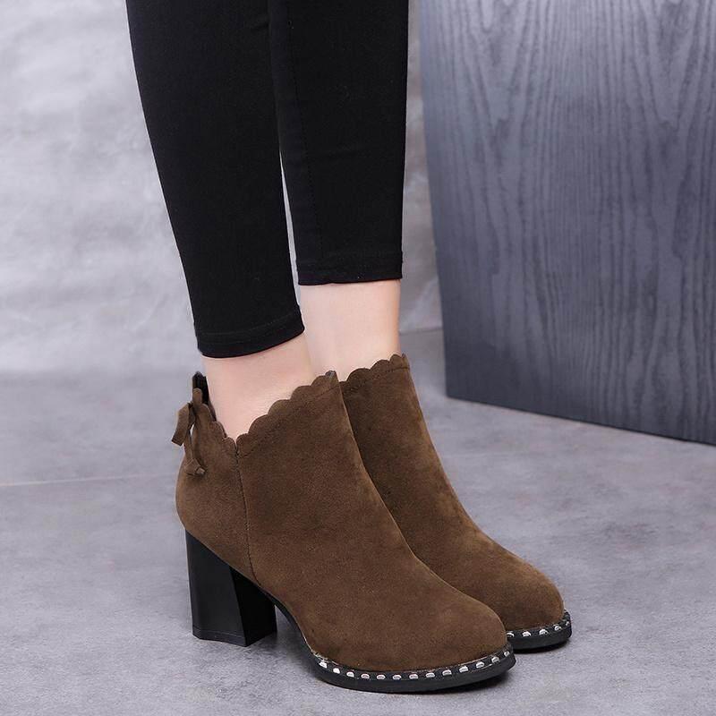 arc girl fashion square talon zipper bottes pour femmes femmes femmes marque femme automne - hiver troupeau européen la cheville de martin. 4d88a4