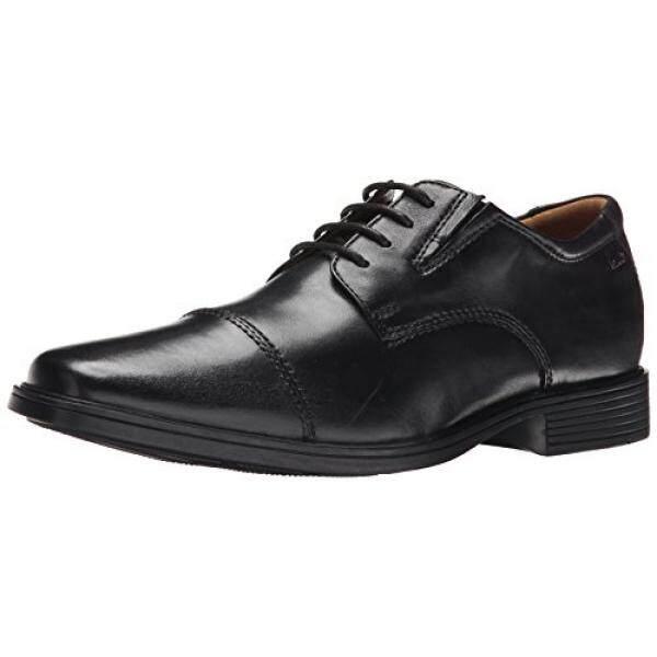 CLARKS Mens Tilden Cap Oxford Shoe,Black Leather,11 M US - intl