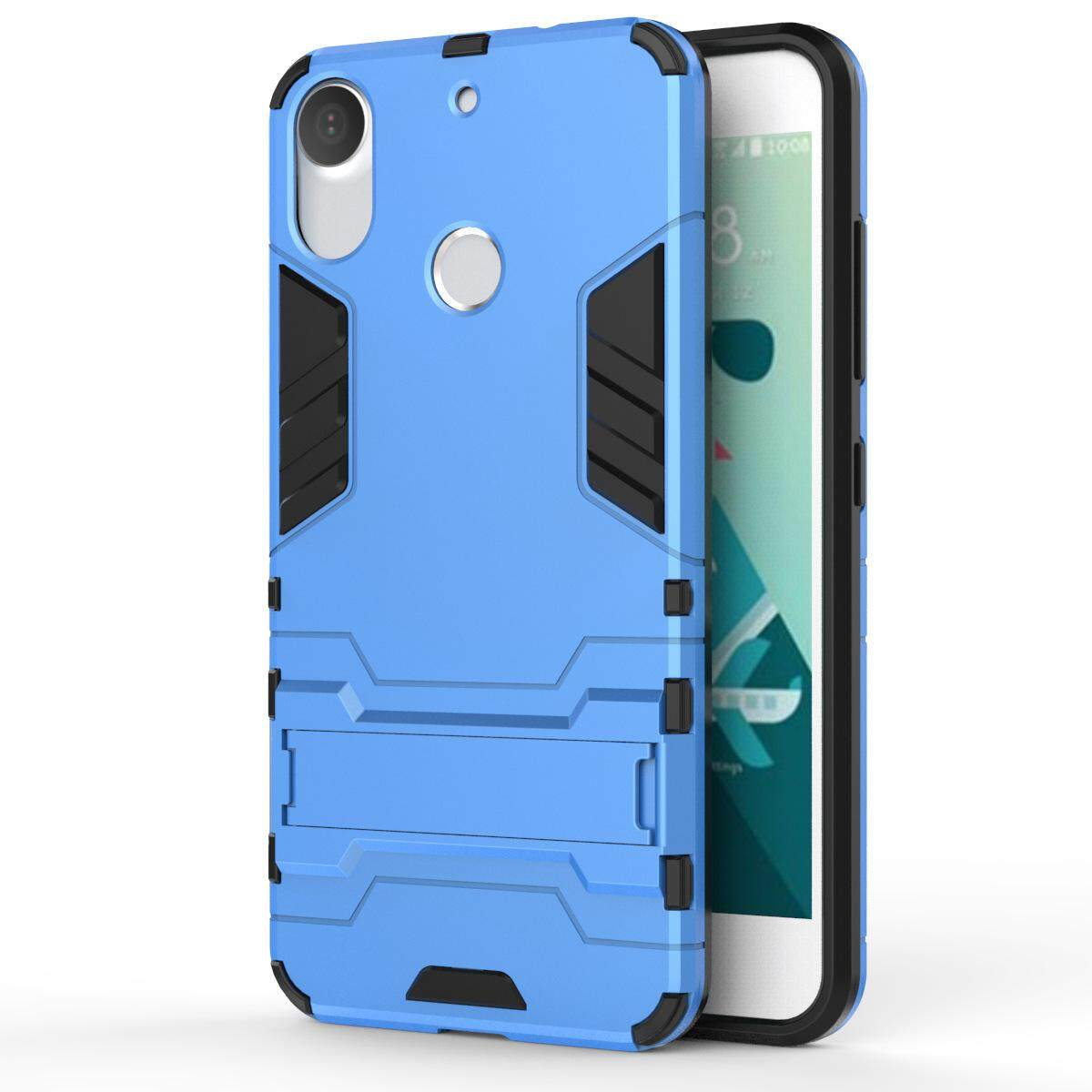 Hình ảnh for HTC Desire 10 Pro Case 2in1 PC+TPU Hybrid Slim Back Case Ultra Thin Armor Cover, with Kickstand Holder, Glossy, Minimalist, Casual