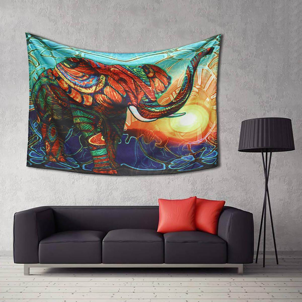 Mandala Elephant Tapestry Wall Hanging Decorative Tapestry Art Boho Decoration 229x150