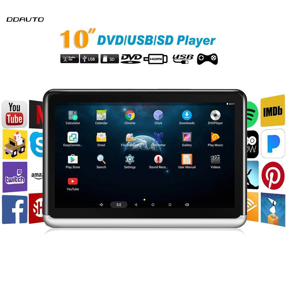 MYR 1.299. DDAUTO DDA10D Tablet Android 6.0 Portable DVD Player 10.1 inch IPS Touch Screen Car Headrest Multimedia Monitor ...