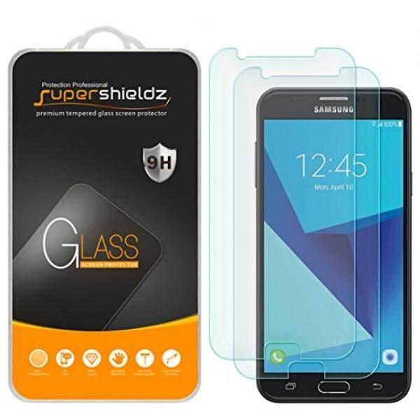 Supershieldz [2-Pack] untuk Samsung Galaxy J7 (2017) Kaca Antigores Pelindung Layar Anti Gores, anti Sidik Jari, Gelembung Gratis, Seumur Hidup Garansi Penggantian