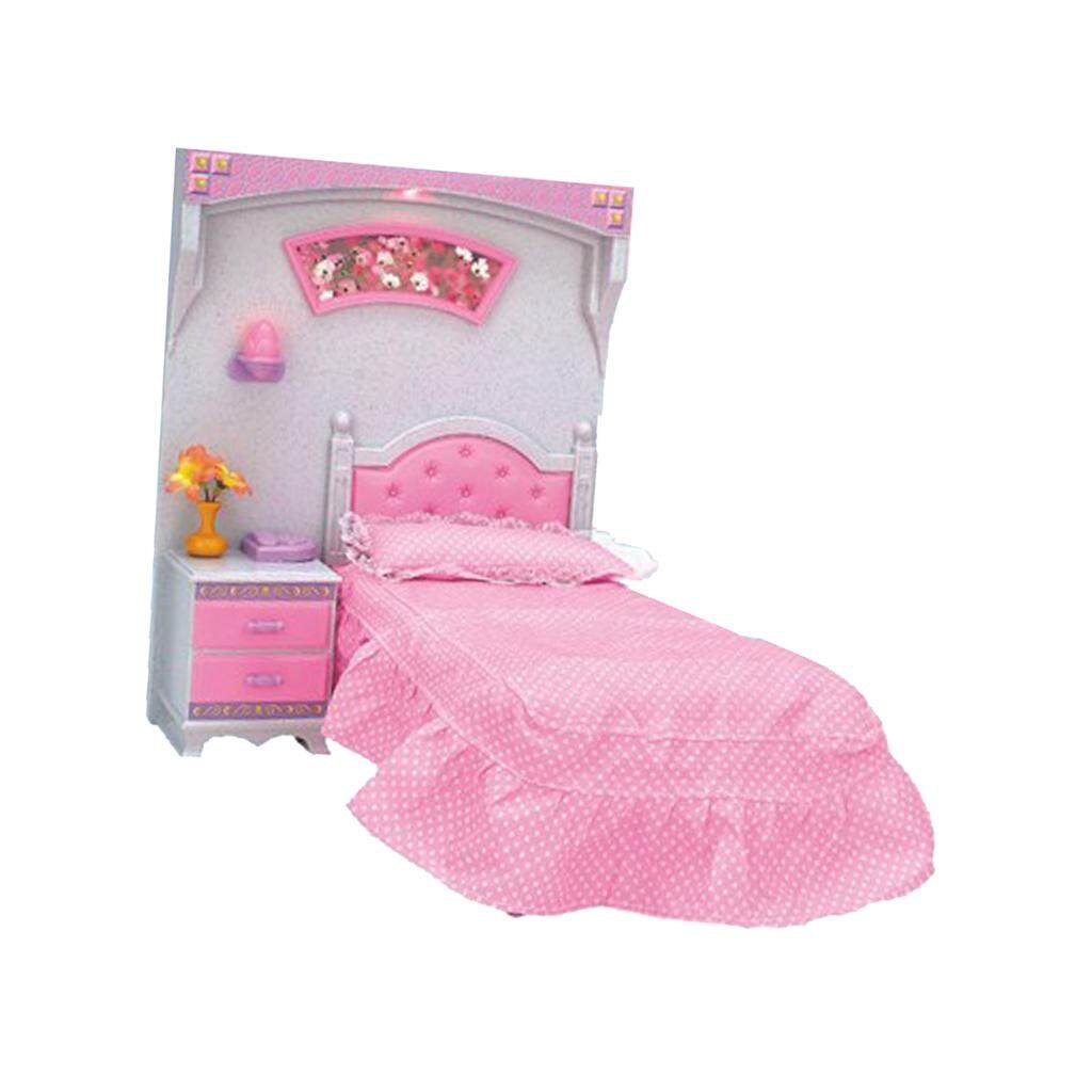 BolehDeals Plastic Bedroom Furniture and Accessories Play Set for Barbie  Doll House Kids Pretend Play Toys acacb685ba