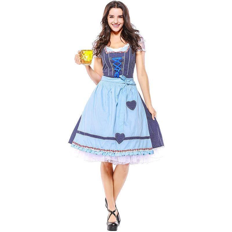 German Bavarian Oktoberfest Clothing Munich National Culture Carnival Costume Maid Woman Cosplay Costume Clothing