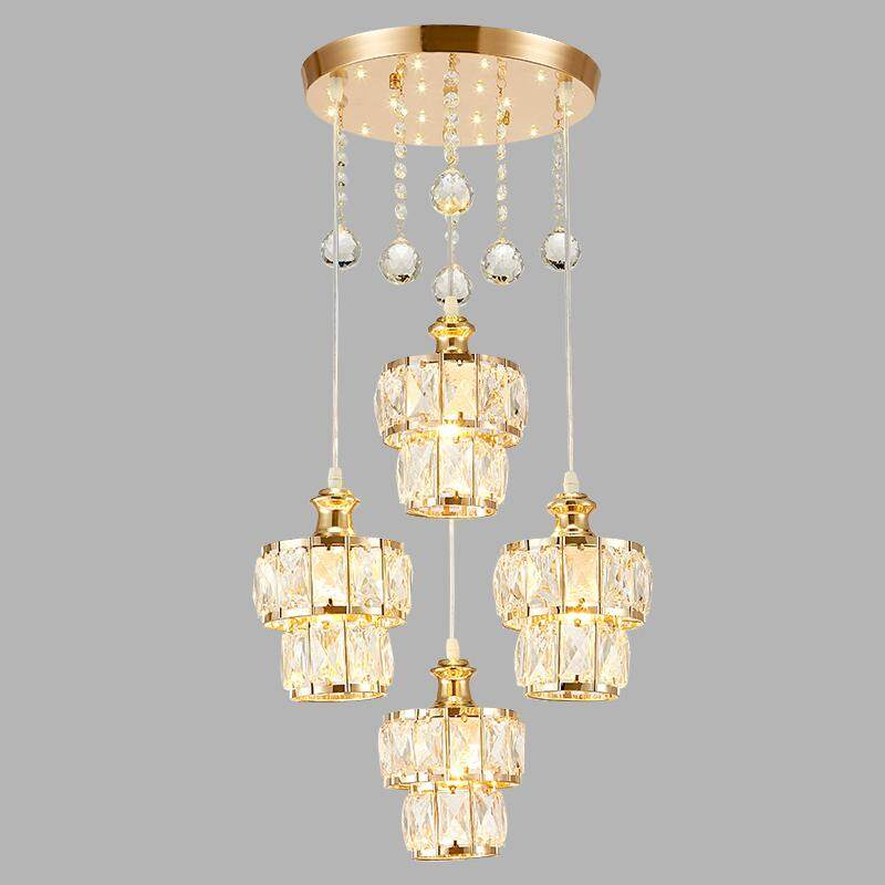 Four Heads Modern Minimalist Dining Room Lamp Chandelier Dining Table Creative Nordic