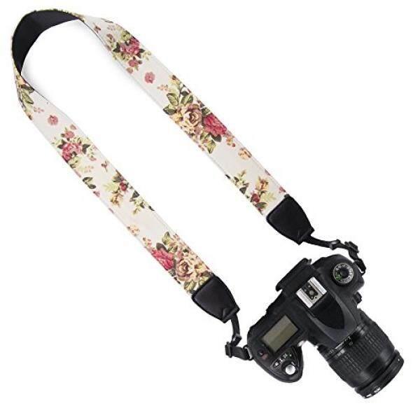 DSLR / SLR Camera Neck Shoulder Belt Strap - Wolven Camera Neck Shoulder Belt Strap for Nikon Canon Samsung Pentax Sony Olympus Fujifilm Instax Mini Polaroid Pringo - Geige Vintage Floral