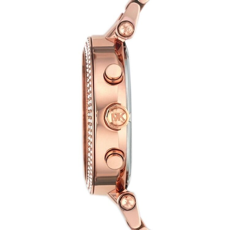 michael kors rose gold watch how to change date