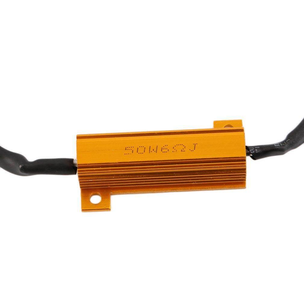 fitur uinn h11 50w 6 ohm led drl fog light load resistor wiring detail gambar uinn h11 50w 6 ohm led drl fog light load resistor wiring harness dc 12 24v terbaru