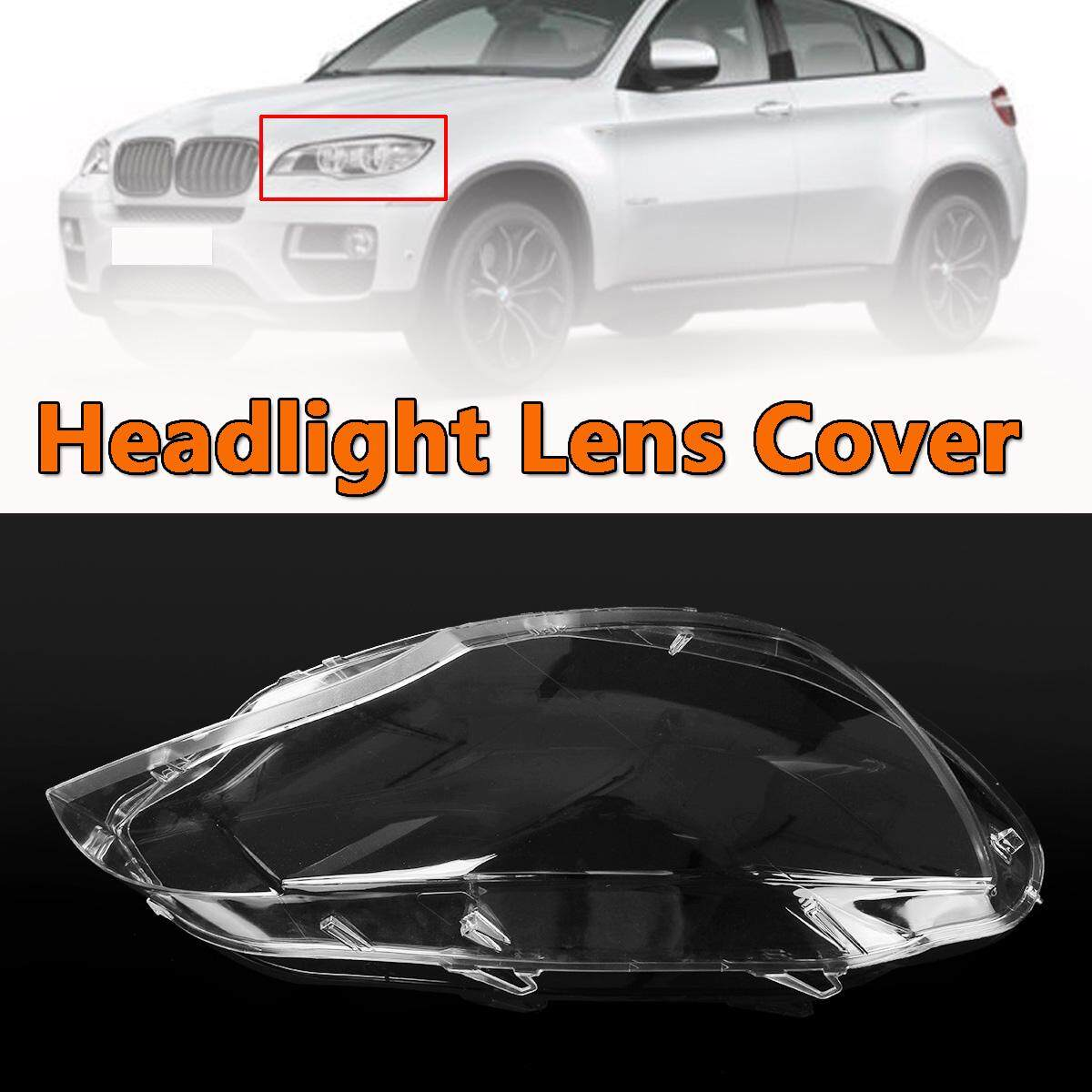 For 2008-2014 BMW E71 X6 Replacement Headlight Lamp Plastic Cover Lens(Pair) New Left