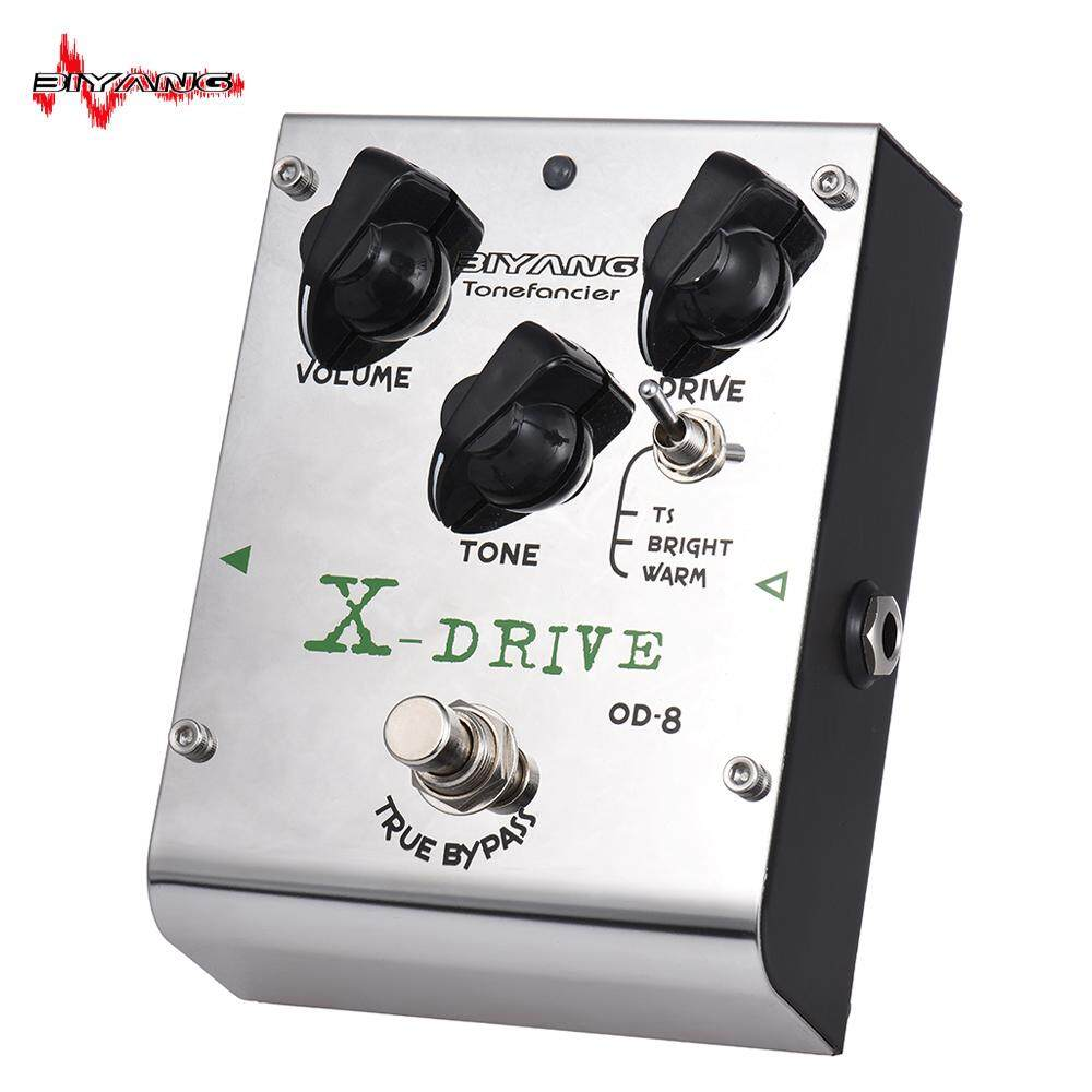 BIYANG OD-8 Tonefacier Series 3 Modes Overdrive Guitar Effect Pedal with 2pcs Extra Exchangeable Chipsets True Bypass Full Metal Shell