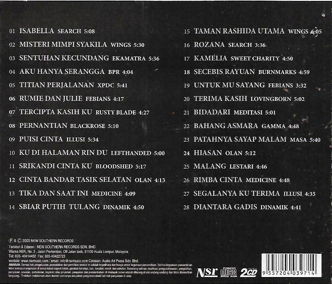Pendekar Platinum Khazanah Lagenda Rock Klasik 2CD Digitally Remastered