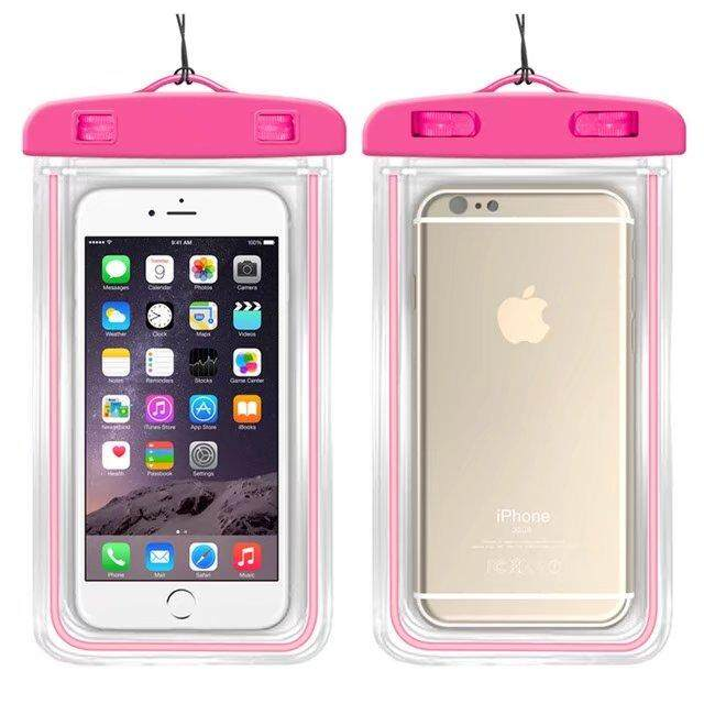 Universal Waterproof Phone Bags For Oukitel K10000 Pro Soft Clear Pouch Case Sport Diving(Suitable for 6 inches below) - intl