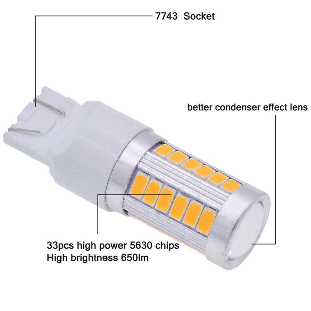 ... Fang Fang 4 Pcs set Kuning DC12V T20 5630 33SMD LED Otomatis Mobil  Lampu Rem ... 9c29dbcd45