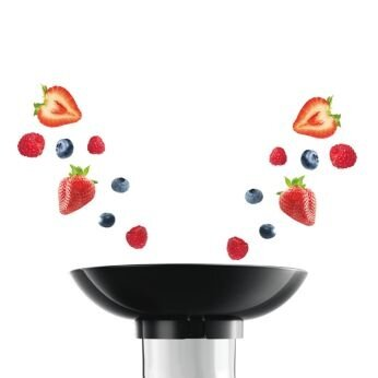 Juice all your berries at once with the funnel accessory