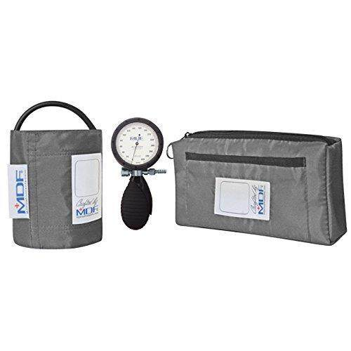 MDF Bravata Palm Aneroid Sphygmomanometer - Blood Pressure Monitor with Adult & Pediatric Sized Cuffs Included - Grey - Full Lifetime Warranty & Free-Parts-For-Life (MDF848XPD-12) - intl