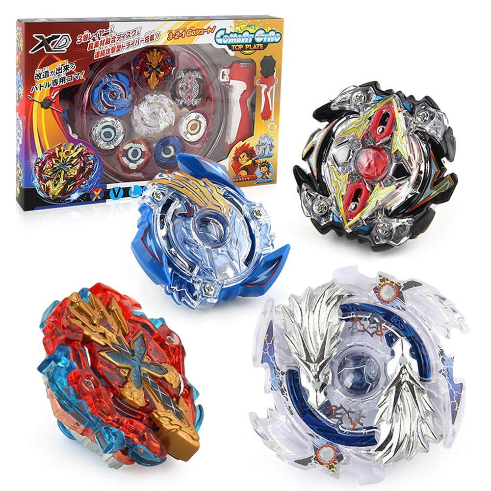 Hình ảnh 4 in 1 Luxury Gyro Set Burst Gyroscopic Beyblade Set with Reverse Transmitter